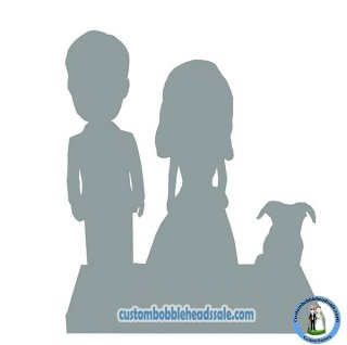 Custom Family & Pets Bobbleheads From Photo