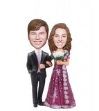Custom Wedding India Sari Bobblehead From Photos