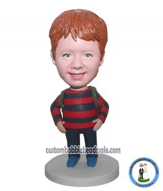 Customized School Boy Bobblehead With Backpack-Personalized 3D b