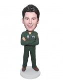 Personalized Bobblehead Pilot In Flight Suit