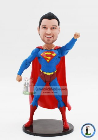 Custom Bobble Head Superman Action Dolls 8 inches