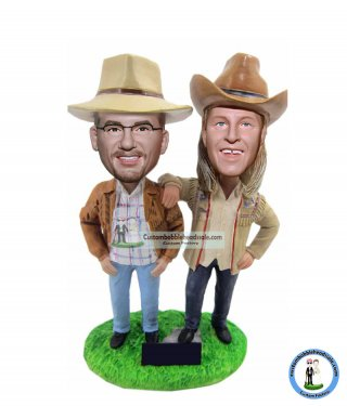 Personalized Fallout 2 Cowboy Bobbleheads Doll
