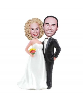 Pregnant Bride Wedding Bobble Heads