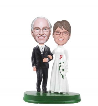 Wedding Couple Bobble Head 50th Wedding Anniversary Gifts