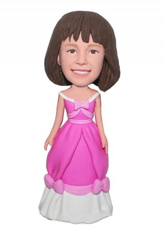 Custom Bobblehead Snow White Dress Doll From Photo
