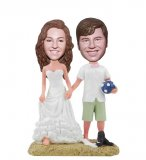 Custom Beach Wedding Bobblehead From Photo