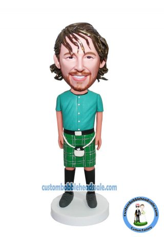 Custom Bobbleheadl Male In Scottish Skirt