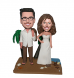 Personalized Bobblehead Beach Wedding