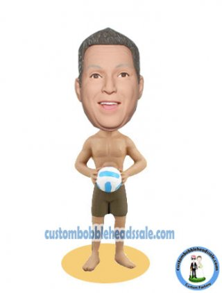 Custom Bobbleheads Enjoy The Beach Volleyball Game 3D doll
