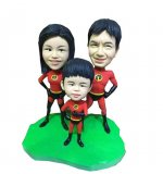 Custom Superhero Family Bobbleheads For Sale.
