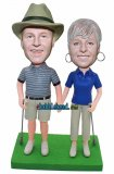 Custom Golf Couple Bobblehead