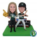 Custom Bobblehead Baseball Couple
