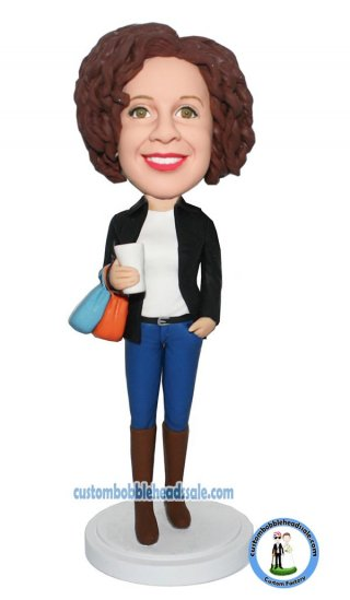 Personalized Bobblehead Shopping Day Female In A Blazer Photo