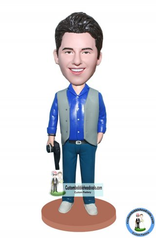 Make Your Own Custom Bobblehead Photographer With A Camera At Hand