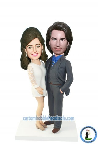 Custom Bobbleheads Fashion Couple Hands Around Each Other
