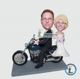 Custom Bobblehead Motorcycle Wedding Dolls