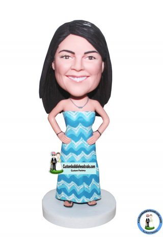 Custom personalized Bobbleheads From Photo Pattern Dress