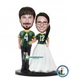 Custom Sports Shirts Wedding Bobble Head Cake Topper