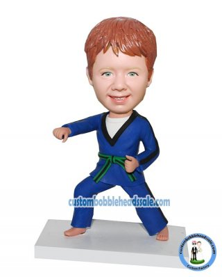 Custom Personal Bobble Head Karate Doll
