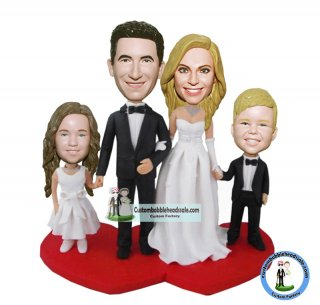 Customized Wedding Bobblehead Cake Toppers