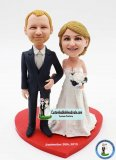 Custom Wedding Bobble Head Cake Topper