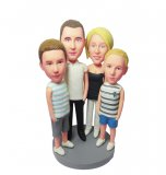 Custom Family 4 Bobblehead For Sale