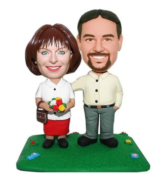 Personalized Figurines Couple Taking Walk In Park Thanksgiving Gifts