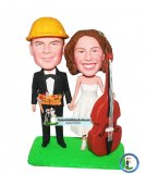 Custom Bobblehead Wedding Toppers Cello