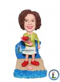 Custom Bobblehead Take Flowers Birthday Gifts