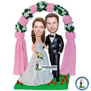 Custom Bobble Head For Wedding Cake