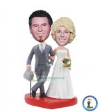 Custom Bobblehead Cake Toppers For Wedding