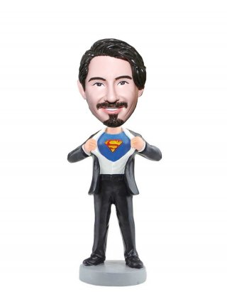 Personalized Superman Bobblehead From Photo