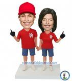 Sports Bobbleheads Super Baseball Fan Couple Foam Finger Bobbleheads