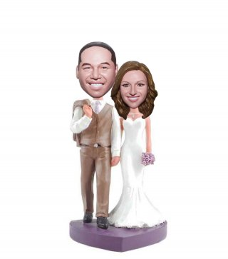 Wedding Bobblehead Dolls Made From Photos