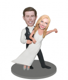 Custom Dance Wedding Bobbleheads Groom Holding Bride-Wedding Gif