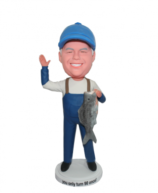 Custom Fisherman Bobblehead