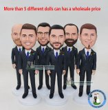 Wholesale Bobbleheads For Groomsmen With Bow Tie