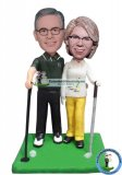 Custom Bobblehead playing golf Couple