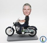 Custom Motorcycle Bobble Head Harley Davidson
