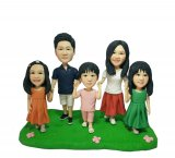 Cheap Custom Family 5 Bobble Heads For Sale