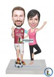 Custom Bobblehead Sports Bobbleheads Couple Yoga