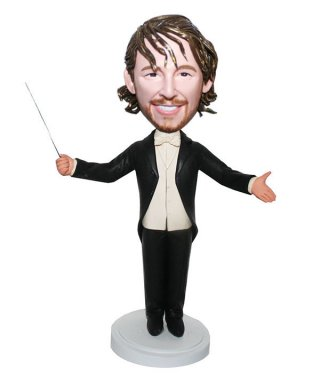 Personalized Bobble Head Musician Gift For Choir Conductor