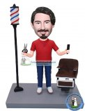 Customized Barber Bobblehead Hairstylist Bobble Head