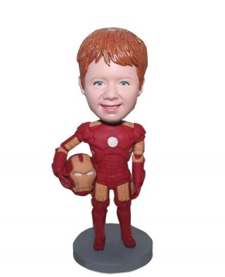 Custom Boy Iron Man Bobblehead