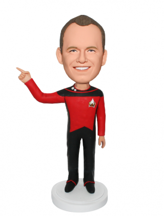 Custom Costume Bobblehead Make In Star Trek Uniform