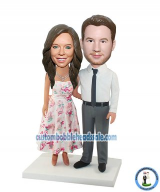 Wholesale Custom Bobblehead Couple From Photo Anniversary Gifts