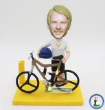 Custom Bike Racing Bobblehead Business Card Holder