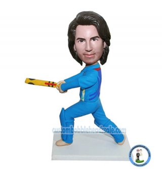Custom Bobblehead Playing Cricket Player
