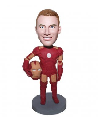 Personalized Male bobblehead Iron Man In The Battle Suit-Iron Ma