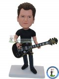 Custom Guitarist Playing Bass Guit Bobbleheads Dolls